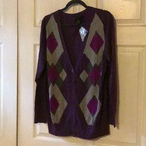 Purple Cardigan Sweater 18/20